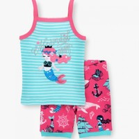 HATLEY SWEET MERMAID ORGANIC COTTON TANK PJ SET