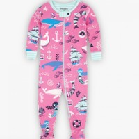 HATLEY SWEET MERMAID ORGANIC COTTON FOOTED COVERALL