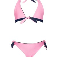 SNAPPER ROCK NAVY & BALLET PINK REVERSIBLE BIKINI