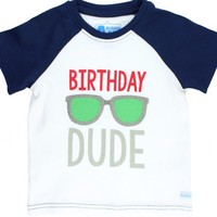 MUD PIE BIRTHDAY DUDE RAGLAN T-SHIRT