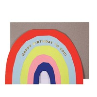 MERI MERI NEON RAINBOW BIRTHDAY CARD