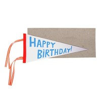MERI MERI HAPPY BIRTHDAY FLAG GREETING CARD