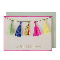 MERI MERI COLORED TASSELS GREETING CARD