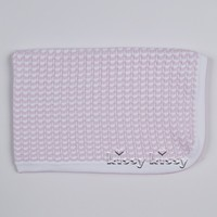 KISSY KISSY SUMMER LATTICE KNIT BLANKET