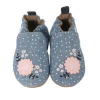 ROBEEZ CHAMBRAY BOUQUET BABY SHOES
