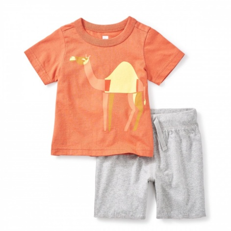 TEA HUMP DAY BABY OUTFIT