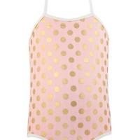 SNAPPER ROCK BALLET DOTS HALTER SWIMSUIT