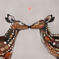 OOPSY DAISY DEER LOVE - HEART NEUTRAL 18X18