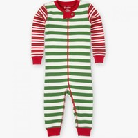 HATLEY HATLEY GREEN HOLIDAY STRIPE COVERALL