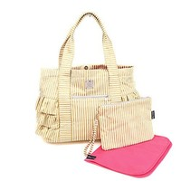 BELLA TUNNO BELLA TUNNO GOLD METALLIC STRIPE GATHER TOTE