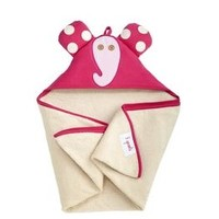 3 SPROUTS 3 SPROUTS PINK ELEPHANT HOODED TOWEL