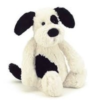 JELLYCAT INC REALLY BIG BLACK & CREAM PUPPY