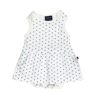 TOOBY DOO TOOBY DOO WATERCOLOR BLUE DOTS BABY DRESS