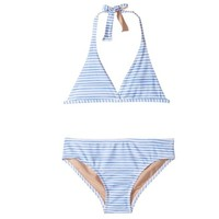 TOOBYDOO TOOBYDOO TWO-PIECE SWIMSUIT-WATER COLOR BLUE STRIPE