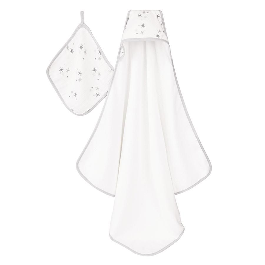 ADEN + ANAIS ADEN & ANAIS TWINKLE HOODED TOWEL & WASHCLOTH SET