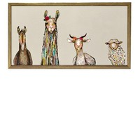 OOPSY DAISY HOLIDAY COLLECTION - DONKEY, LLAMA, GOAT & SHEEP ON CREAM WITH MINI FRAME