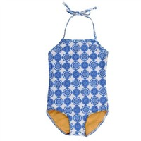 TOOBYDOO TOOBYDOO DELFT BLUE SWIMSUIT