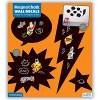 GALISON MUDPUPPY SUPER HERO MAGNACHALK WALL DECALS