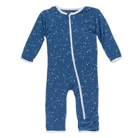 KICKEE PANTS TWILIGHT STARRY SKY PRINT COVERALL WITH ZIPPER