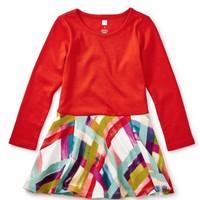 TEA PLAID SKIRTED DRESS