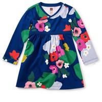 TEA SCOTTISH GARDEN WRAP NECK BABY DRESS