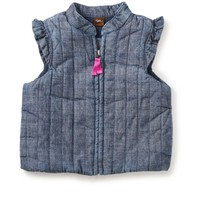 TEA CITIZEN CHAMBRAY ZIP BABY VEST