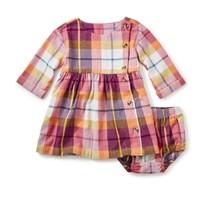 TEA PLAID FLANNEL BABY DRESS