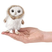 FOLKMANIS MINI BARN OWL FINGER PUPPET