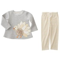MUD PIE TURKEY TUNIC LEGGINGS SET - INFANT