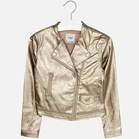 MAYORAL USA LEATHERETTE JACKET WITH RIVETS
