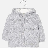 MAYORAL USA BRAIDED KNIT CARDIGAN