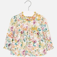 MAYORAL USA FLORAL BLOUSE