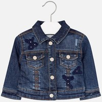 MAYORAL USA EMBROIDERED DENIM JACKET