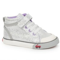 SEE KAI RUN PEYTON SILVER GLITTER HIGH TOP