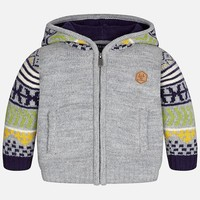 MAYORAL USA JACQUARD HOODED SWEATER