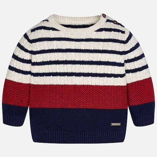MAYORAL USA STRIPED SWEATER
