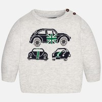 MAYORAL USA CAR SWEATER