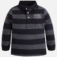 MAYORAL USA STRIPED LONG SLEEVE POLO