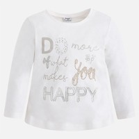 MAYORAL USA LONG SLEEVE WHAT MAKES YOU HAPPY SHIRT