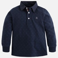 MAYORAL USA FANTASY LONG SLEEVE POLO SHIRT