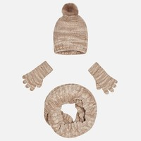 MAYORAL USA HAT SCARF & GLOVE SET