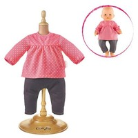 "COROLLE BLOUSE & DENIM RASPBERRY FOR 12"" BABY DOLL"