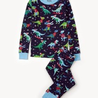 HATLEY WINTER SPORTS T-REX LONG SLEEVE PAJAMA SET