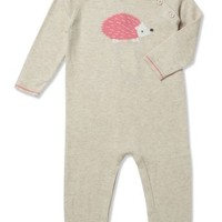 ANGEL DEAR INTARSIA PINK HEDGEHOG COVERALL