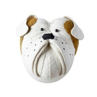 FIONA WALKER FIONA WALKER ENGLAND BULLDOG HEAD WALL DECOR