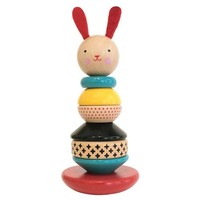 PETIT COLLAGE MODERN BUNNY STACKING TOY