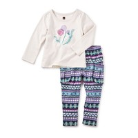 TEA THISTLE BABY OUTFIT