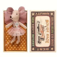 MAILEG LITTLE SISTER MOUSE WITH TUTU IN BOX
