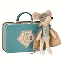 MAILEG MAILEG GUARDIAN HERO MOUSE IN SUITCASE