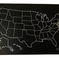 ANNABELLE NOEL REUSEABLE USA CHALKBOARD PLACEMAT